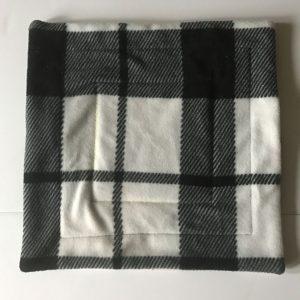 White and Black Plaid pee pad