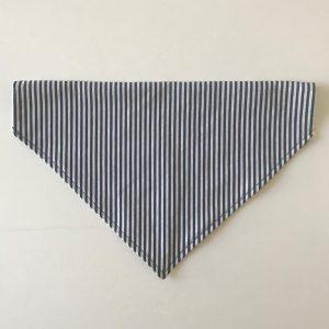 Blue and White striped bandana