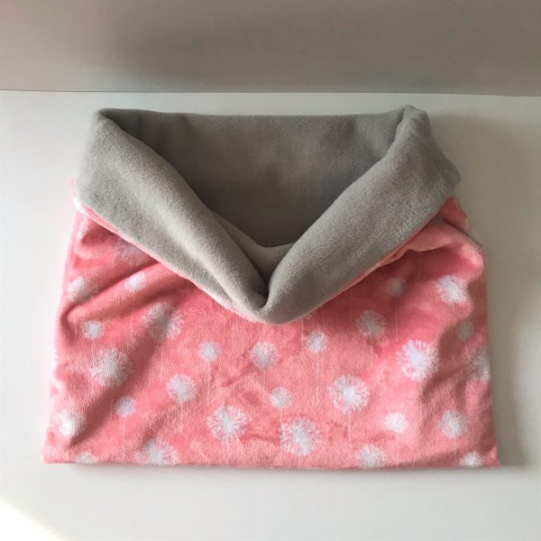 Coral color dandelion print pet sleeping bag