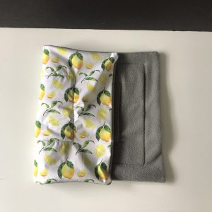 Lemon and Grey Waterproof Lap Pad